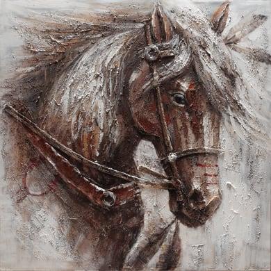 Quadro dipinto a mano Cavallo2 100x100 cm