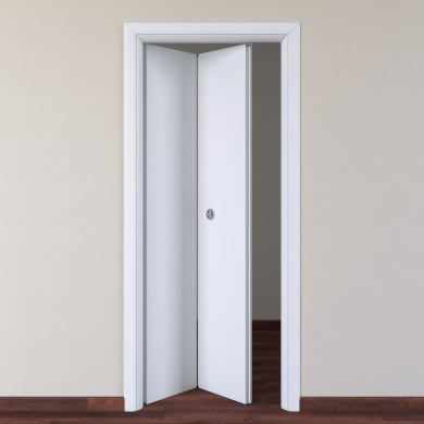 Porta pieghevole Pearl bianco L 80 x H 210 cm sinistra