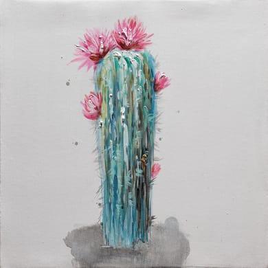 Quadro dipinto a mano Cactus2 30x30 cm