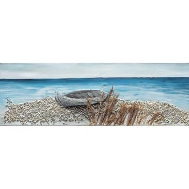 Quadro dipinto a mano Mare4 90x30 cm