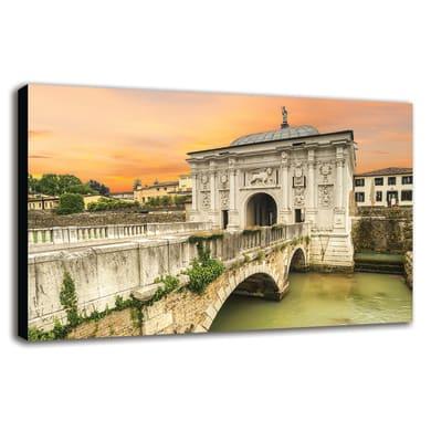 Quadro su tela Treviso Porta Sul Sile 90x135 cm
