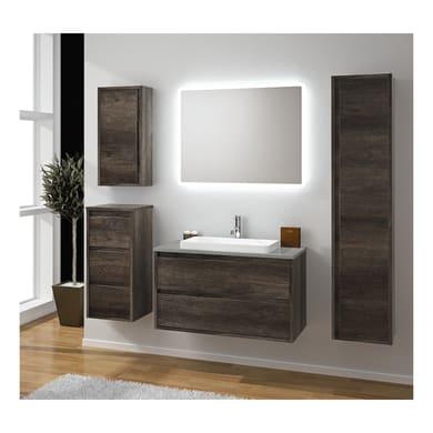 Mobile bagno Loto marrone L 90 cm