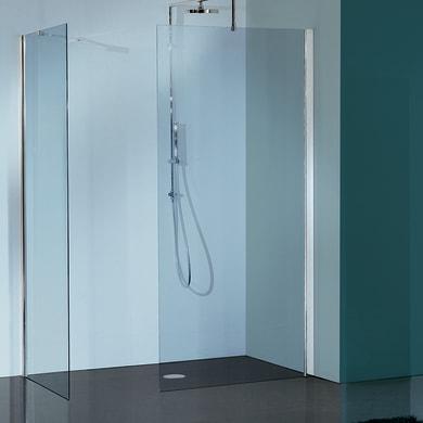 Doccia walk in L 79, H 193 cm, vetro 6 mm trasparente cromato