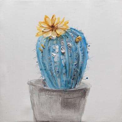 Quadro dipinto a mano Cactus1 30x30 cm