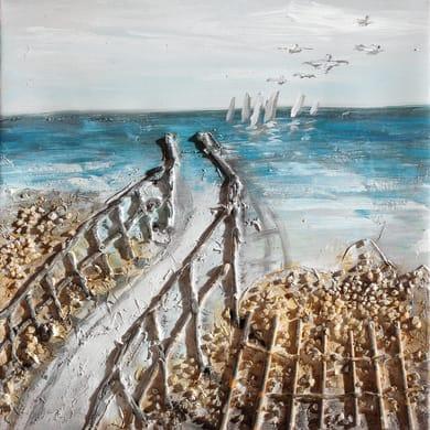 Quadro dipinto a mano Mare2 30x30 cm
