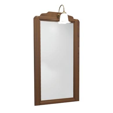 Specchio con faretto bagno rettangolare Laura L 49 x H 122 cm Ø 122.25 cm
