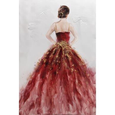 Immagine Donna In Rosa 90x60 cm