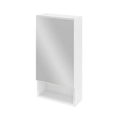 Specchio contenitore Easy L 35.9 x P 14 x H 70 cm bianco lucido Sensea