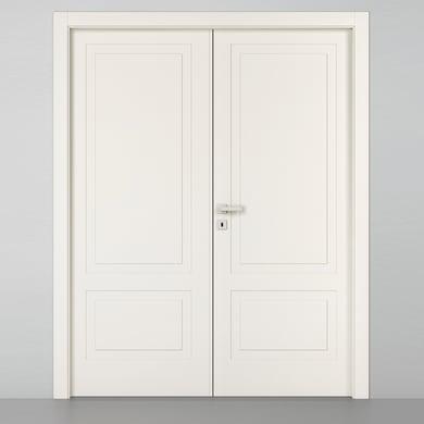Porta a battente Shibuya 2 Ante bianco L 140 x H 210 cm sinistra