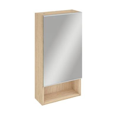 Specchio contenitore Easy L 35.9 x P 16 x H 70 cm rovere Sensea