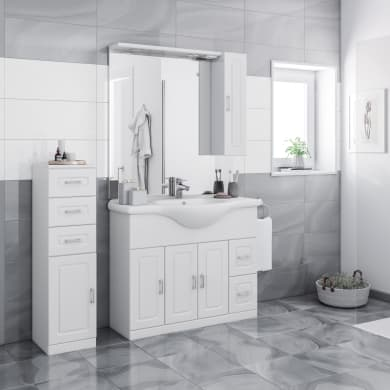 Mobile bagno Paola bianco L 105 cm