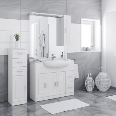 Mobile bagno Paola bianco L 100 cm