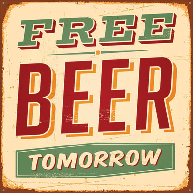 Quadro su tela Free beer 50x50 cm