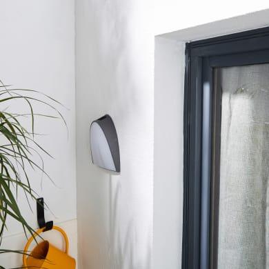 Applique Margate LED integrato in alluminio, grigio, 15W 1300LM IP54 INSPIRE