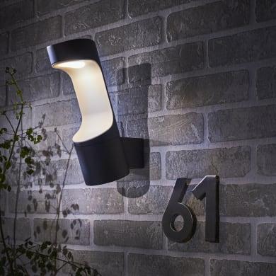 Applique Murray LED integrato in alluminio, nero, 9W 370LM IP54 INSPIRE