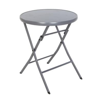 Set tavolo e sedie Emys in acciaio grigio / argento e giallo / dorato 2 posti