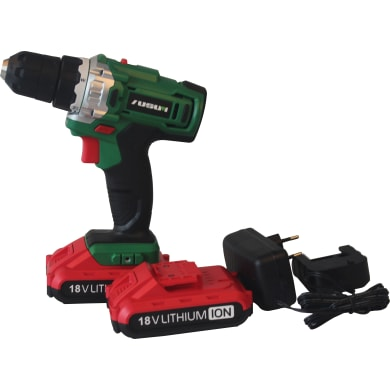 Trapano avvitatore a batteria drilling and screwing 18 V, 2 Ah, 2 batterie