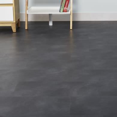 Pavimento PVC flottante clic+ Antracite Sp 4.2 mm nero