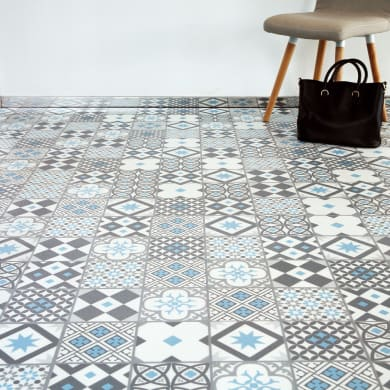 Pavimento PVC flottante clic+ Gatsby Blu Sp 4.2 mm multicolore