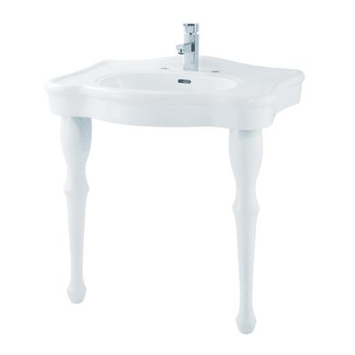 Lavabo quadrato L 71 x P 55 cm in ceramica bianco
