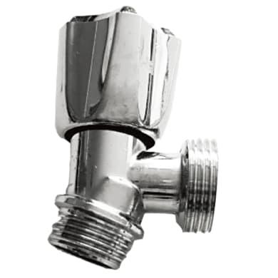 Valvola a squadra EQUATION in rame / alluminio/ acciaio , cromato , maschio / maschio