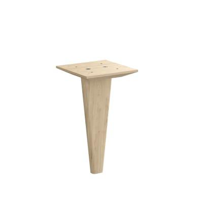 Gamba mobili SPACEO legno pino opaco  L 12 cm x H 21.6 cm