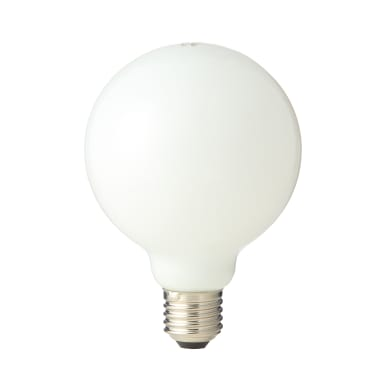 Lampadina LED filamento E27, Globo, Opaco, Bianco freddo, 8W=120LM (equiv 75 W), 360° , LEXMAN