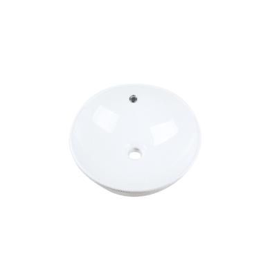 Lavabo free-standing da appoggio rotondo in ceramica Ø 41 x H 18 cm bianco