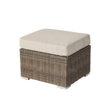Sgabello da giardino con cuscino  in alluminio Manhattan NATERIAL colore beige