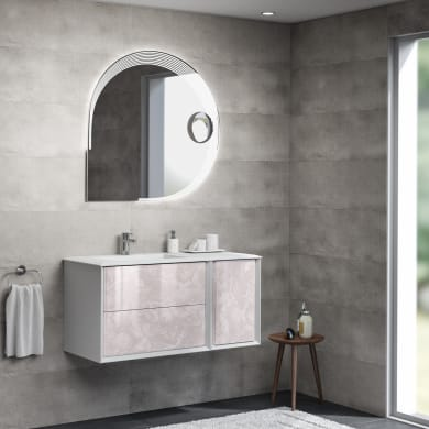 Mobile bagno Bellagio bianco e onice L 105 cm
