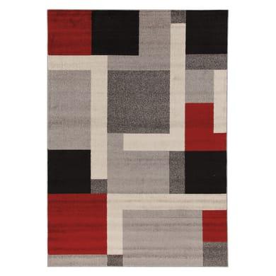 Tappeto Casa riquadri , colori assortiti, 120x120 cm