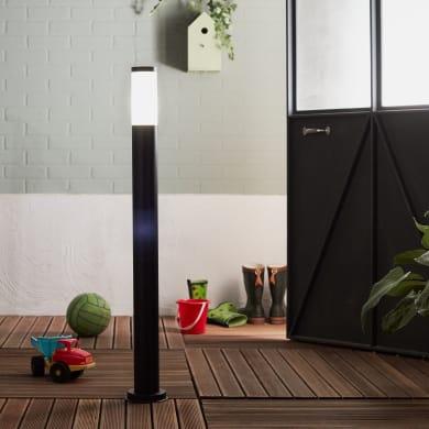 Palo della luce Travis H100cm in acciaio inossidabile, nero, E27 1xMAX40W IP44 INSPIRE