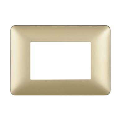 Placca BTICINO Matix 3 moduli gold