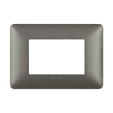 Placca BTICINO Matix 3 moduli iron
