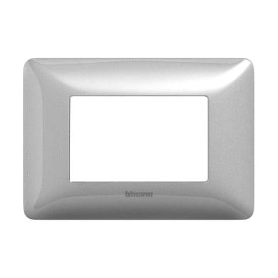 Placca BTICINO Matix 3 moduli silver