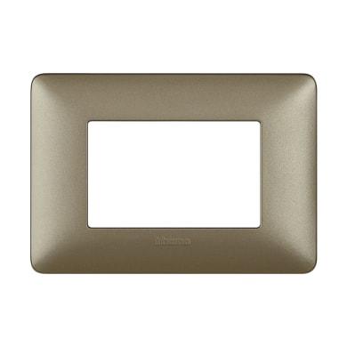 Placca Matix BTICINO 3 moduli titanium