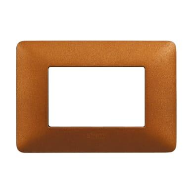 Placca BTICINO Matix 3 moduli rosso terra