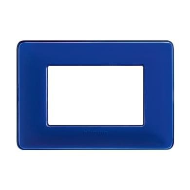 Placca BTICINO Matix 3 moduli cobalto