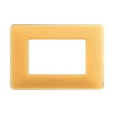 Placca Matix BTICINO 3 moduli ambra
