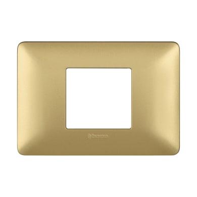 Placca Matix BTICINO 2 moduli gold