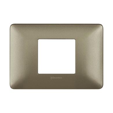 Placca BTICINO Matix 2 moduli titanium