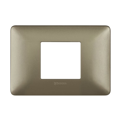 Placca Matix BTICINO 2 moduli titanium
