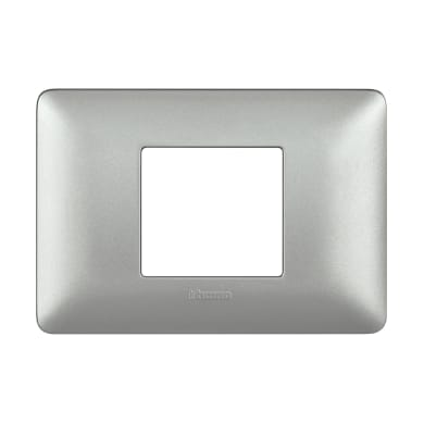 Placca Matix BTICINO 2 moduli argento