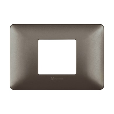 Placca BTICINO Matix 2 moduli iron