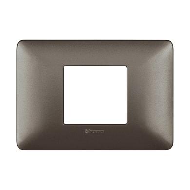 Placca Matix BTICINO 2 moduli iron