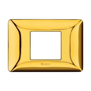 Placca Matix BTICINO 2 moduli oro lucido