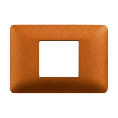 Placca BTICINO Matix 2 moduli rosso terra