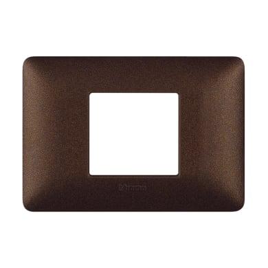 Placca Matix BTICINO 2 moduli marrone caffè