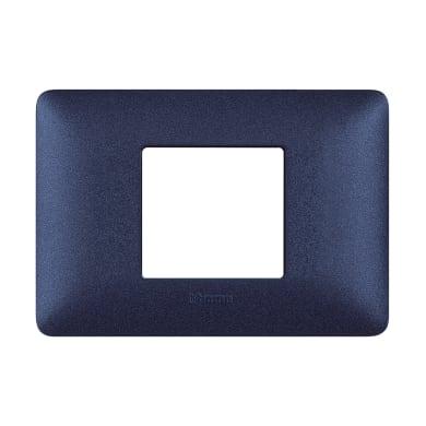 Placca BTICINO Matix 2 moduli blu mercurio