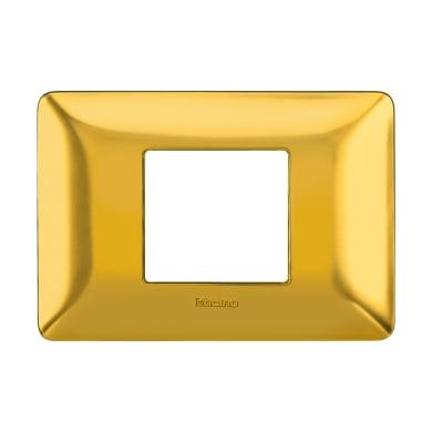 Placca Matix BTICINO 2 moduli oro satinato